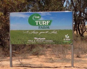 The Turf Farm Signage