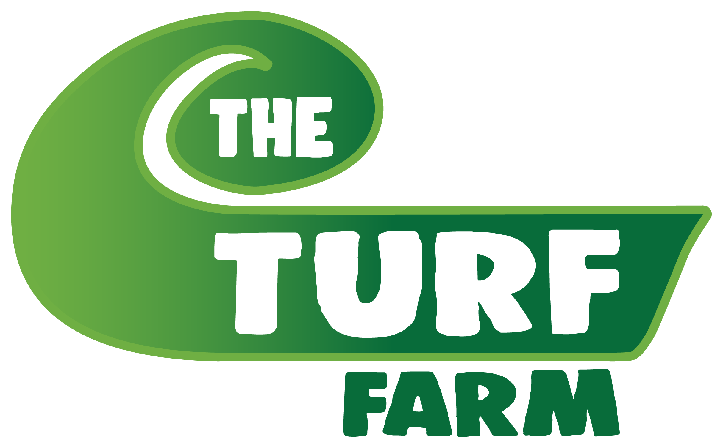 Turf Farm 2020 logo gradient no back white-keyline