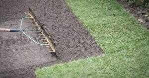 rake and soil